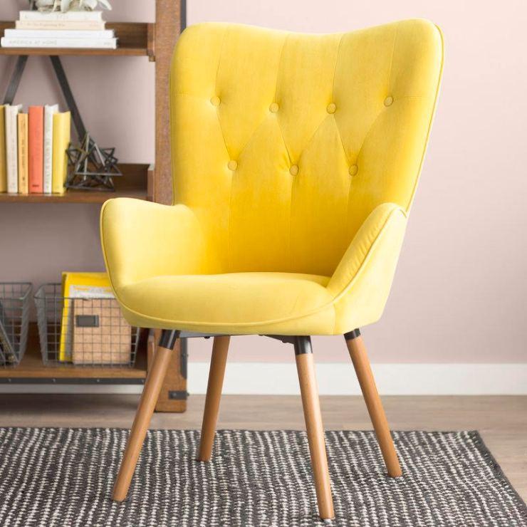 Cool 5 Bold Velvet Accent Chairs Under 200 Pretty On Fridays Customarchery Wood Chair Design Ideas Customarcherynet